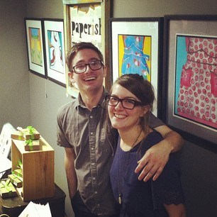 Sean and Lisa at our pop-up shop at the end of Sept!