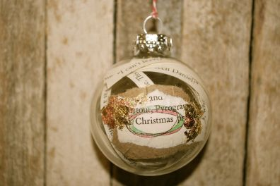 Christmas, Altered Book Ornament, Hand Colored w/ Copper and Gold Leaf Mix, $15