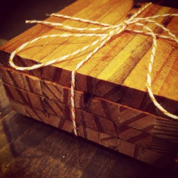 Reclaimed Wood Coasters by Sean Murty