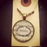 Music Book Necklace, $30