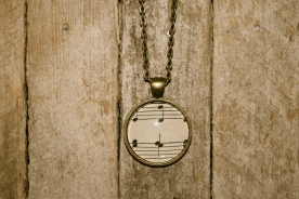 Vintage Hymnal/Music Sheet Necklace by Lisa Muscato